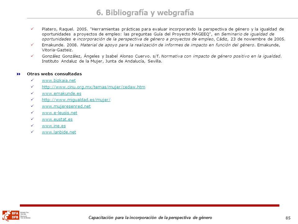 6. Bibliografía y webgrafía