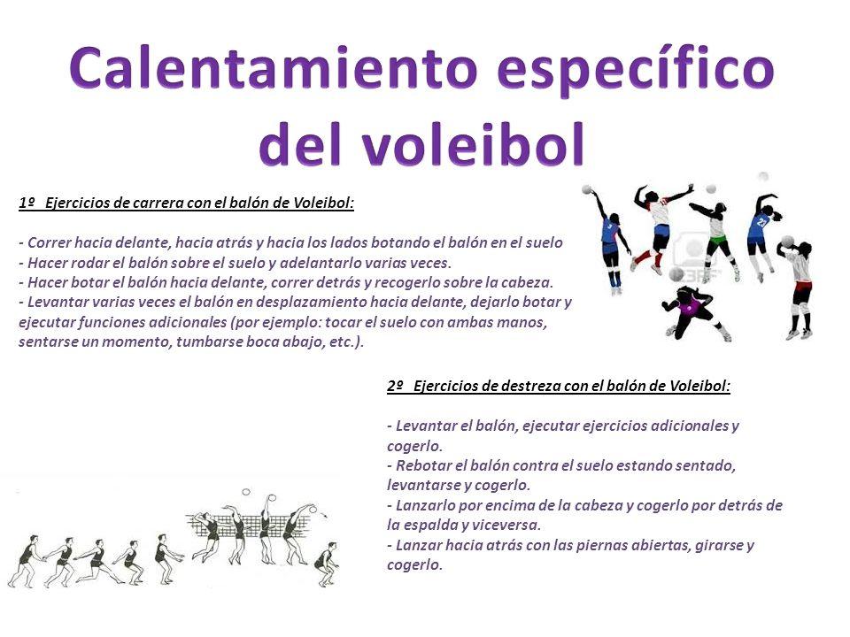 Calentamiento específico del voleibol