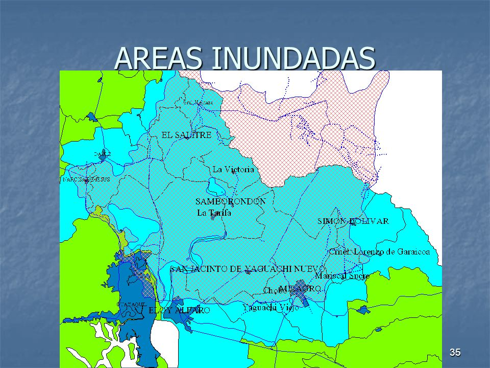 AREAS INUNDADAS