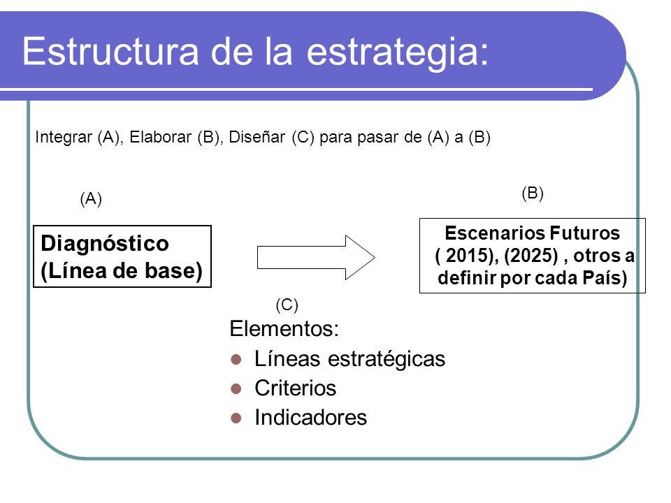 Estructura de la estrategia: