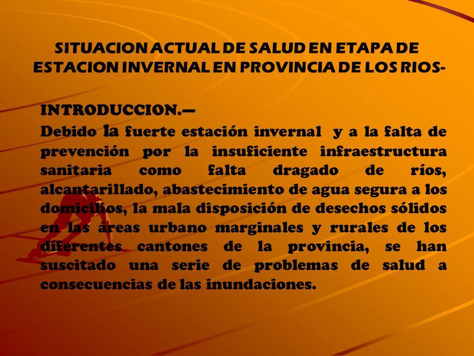 SITUACION ACTUAL DE SALUD EN ETAPA DE