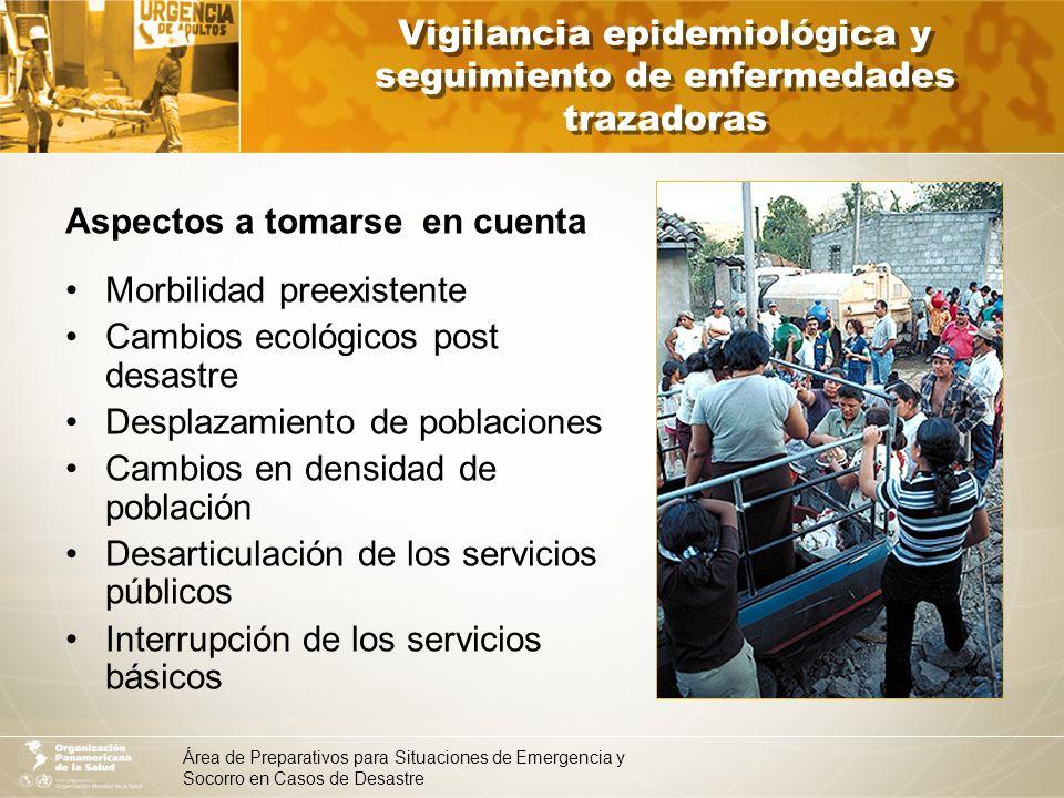 Vigilancia epidemiológica y seguimiento de enfermedades trazadoras