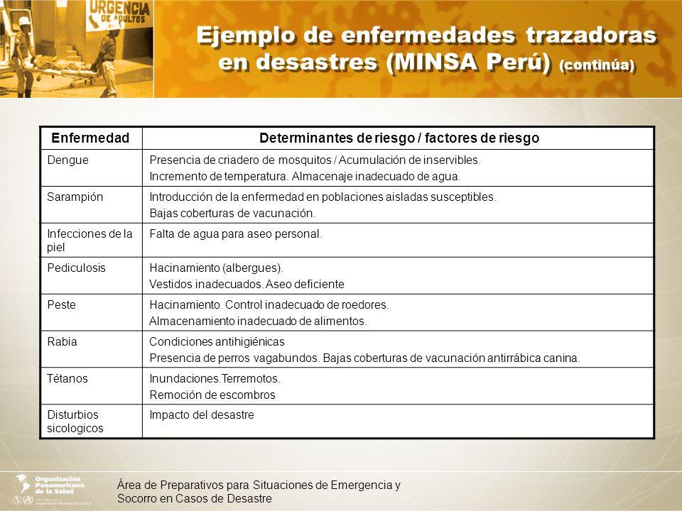 Determinantes de riesgo / factores de riesgo