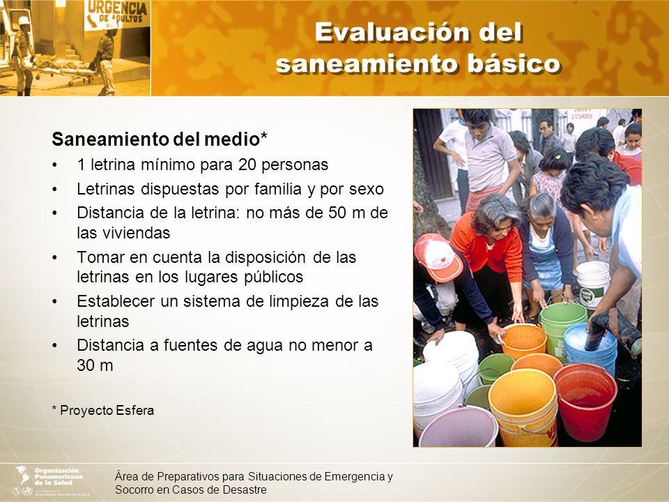 Evaluación del saneamiento básico