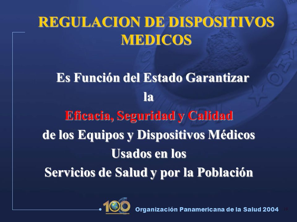 REGULACION DE DISPOSITIVOS MEDICOS