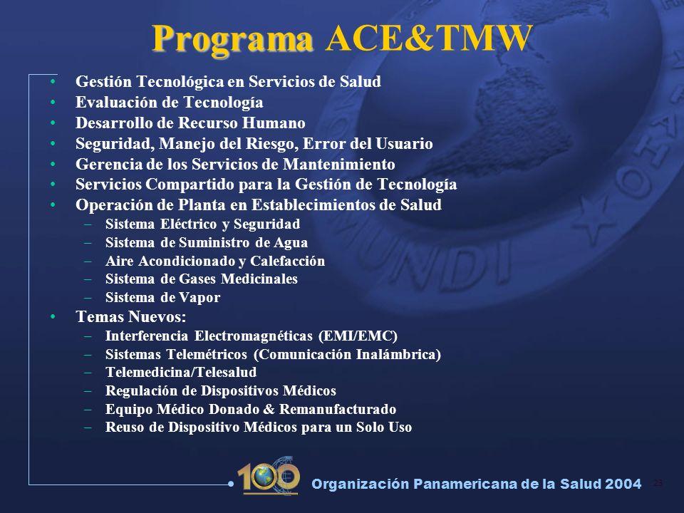 Programa ACE&TMW Gestión Tecnológica en Servicios de Salud