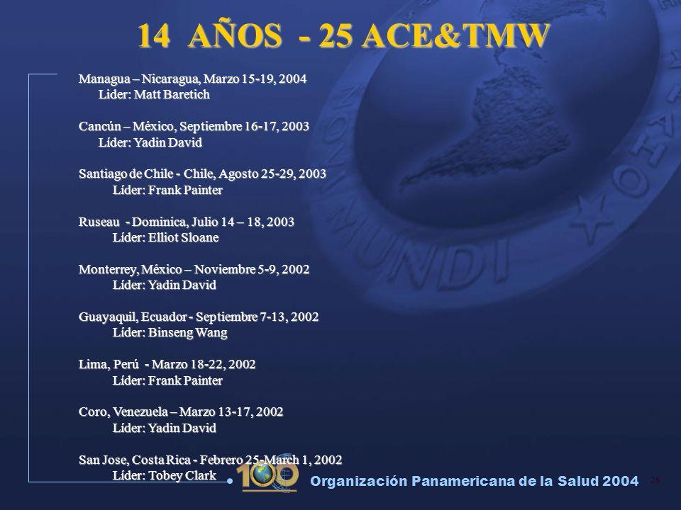 14 AÑOS - 25 ACE&TMW Managua – Nicaragua, Marzo 15-19, 2004