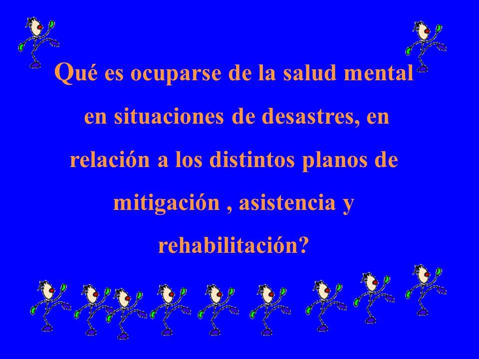 Qué es ocuparse de la salud mental