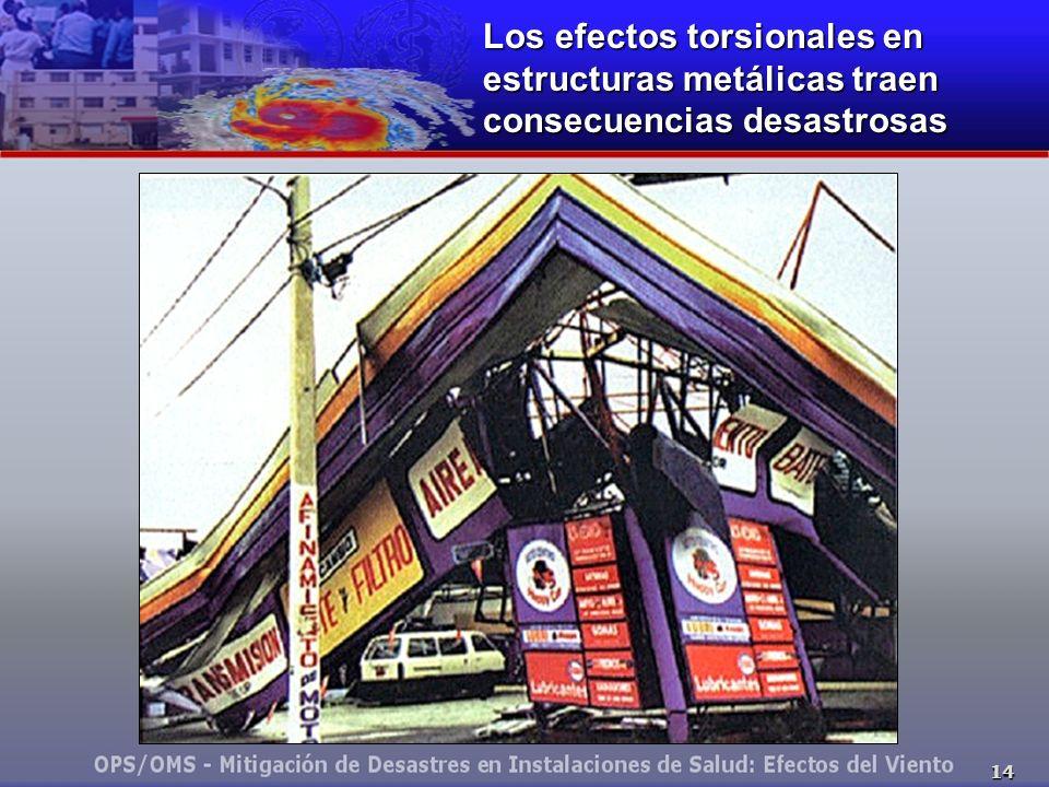 Los efectos torsionales en estructuras metálicas traen consecuencias desastrosas