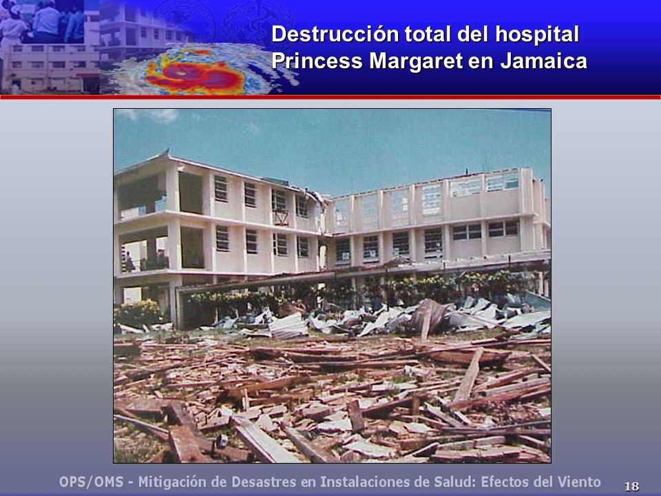 Destrucción total del hospital Princess Margaret en Jamaica