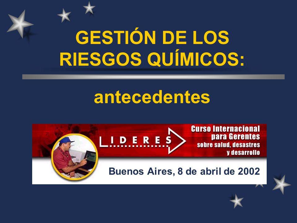 GESTIÓN DE LOS RIESGOS QUÍMICOS: