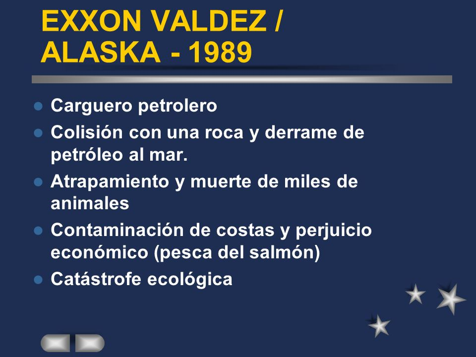 EXXON VALDEZ / ALASKA - 1989 Carguero petrolero