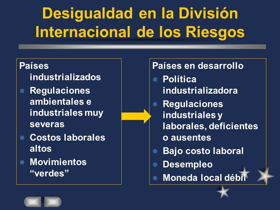 Desigualdad en la División Internacional de los Riesgos