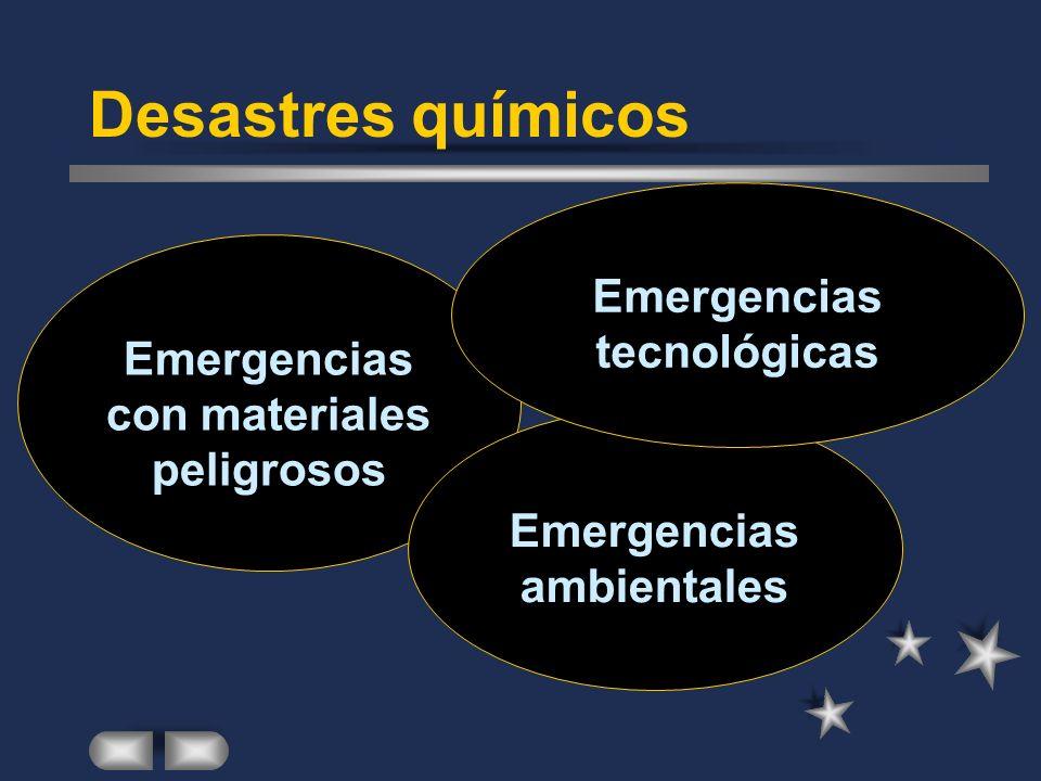 Desastres químicos Emergencias tecnológicas