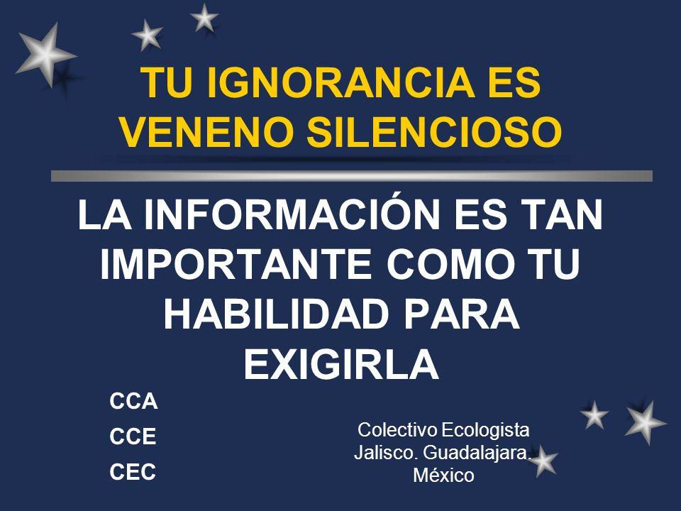 Colectivo Ecologista Jalisco. Guadalajara. México