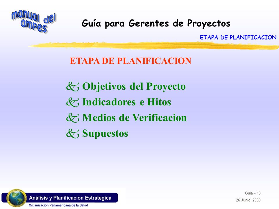ETAPA DE PLANIFICACION ETAPA DE PLANIFICACION