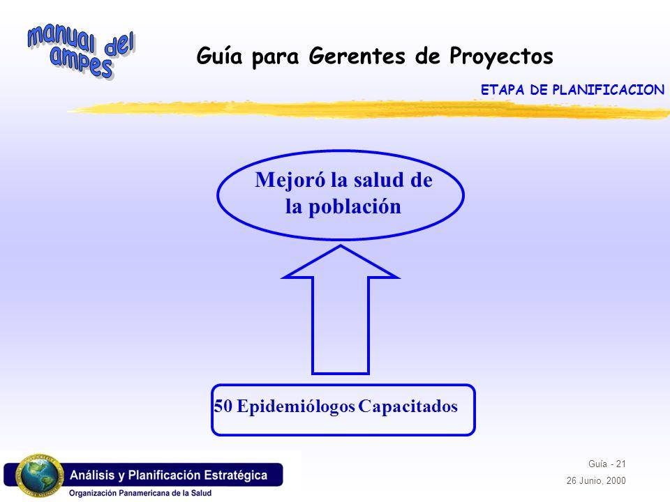 ETAPA DE PLANIFICACION Mejoró la salud de la población