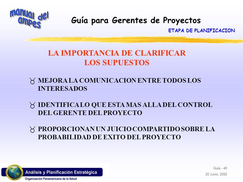 ETAPA DE PLANIFICACION LA IMPORTANCIA DE CLARIFICAR