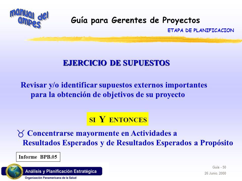 ETAPA DE PLANIFICACION EJERCICIO DE SUPUESTOS