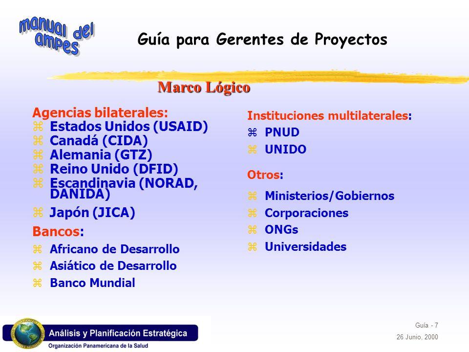 Marco Lógico Agencias bilaterales: Estados Unidos (USAID)