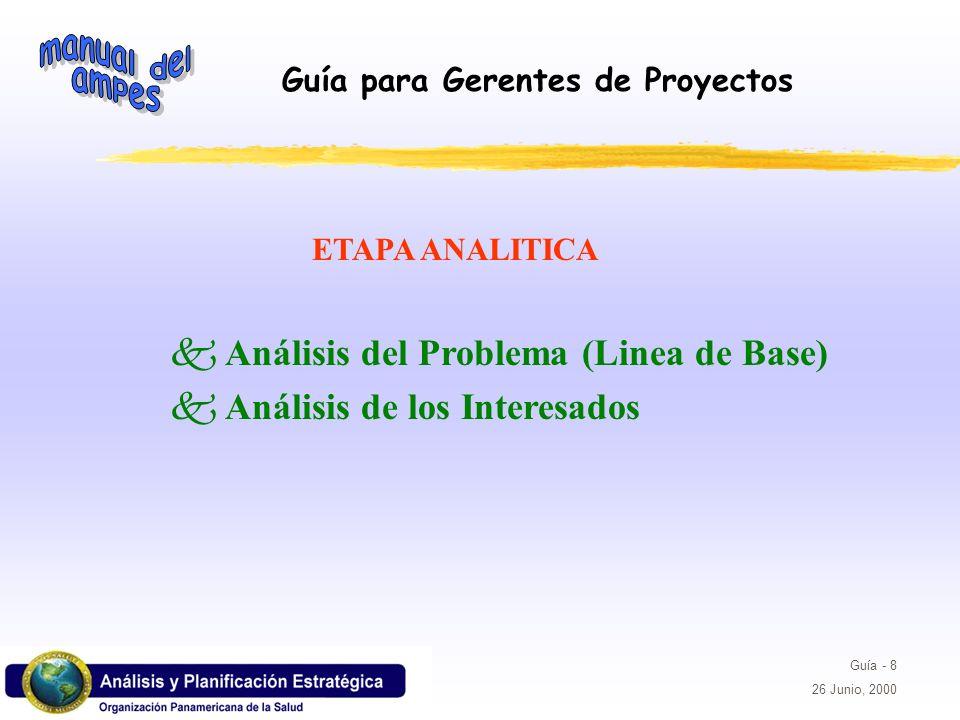 Análisis del Problema (Linea de Base) Análisis de los Interesados