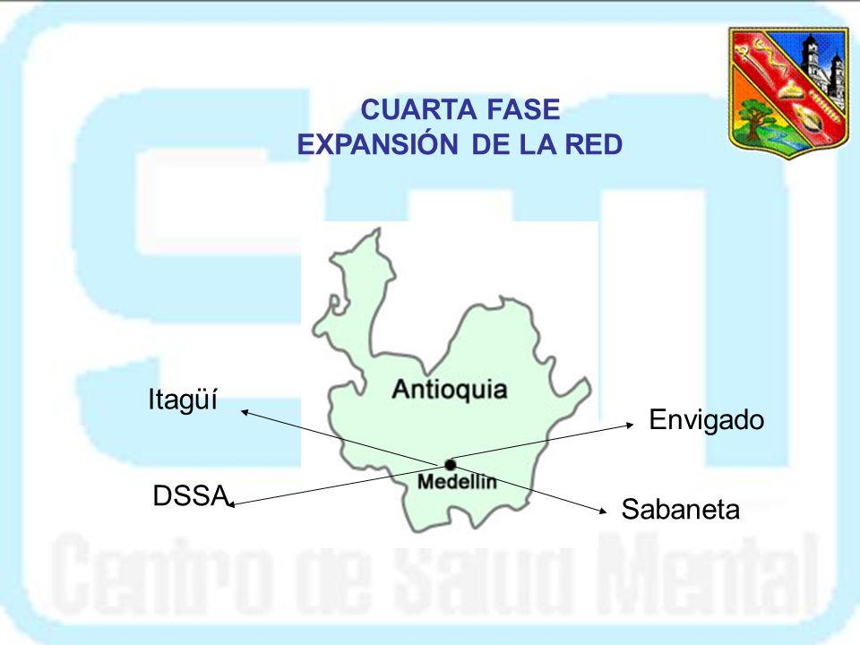 CUARTA FASE EXPANSIÓN DE LA RED Itagüí Envigado DSSA Sabaneta