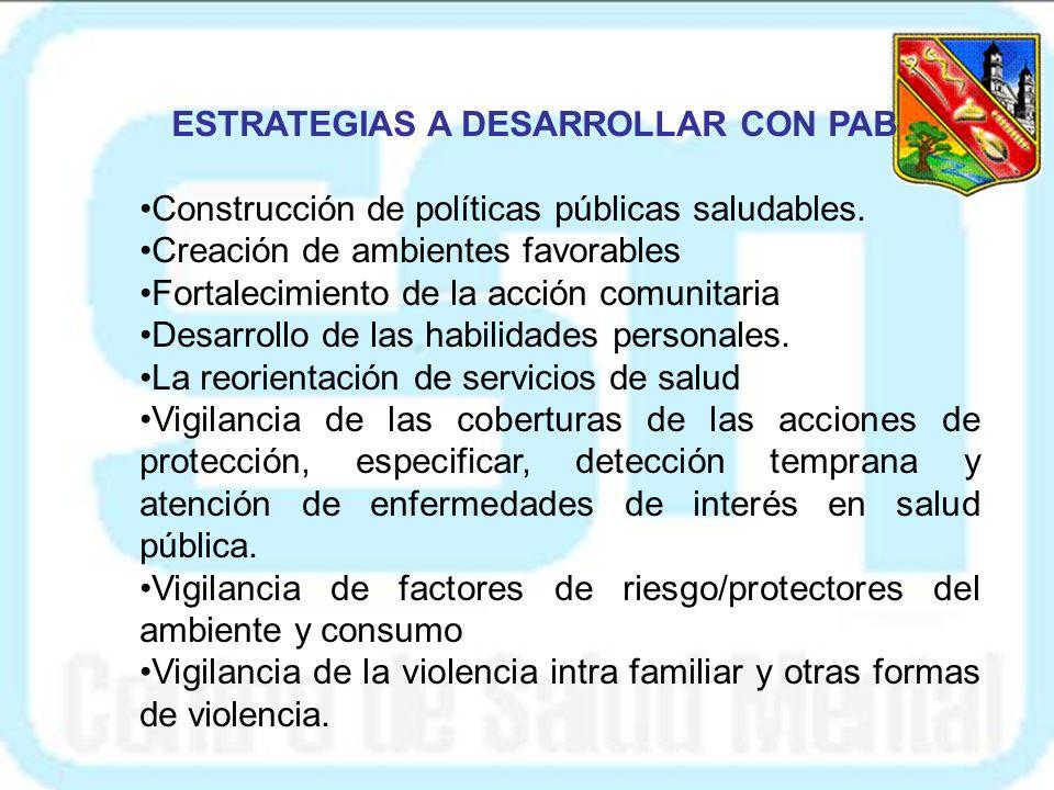 ESTRATEGIAS A DESARROLLAR CON PAB