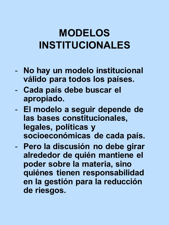 MODELOS INSTITUCIONALES