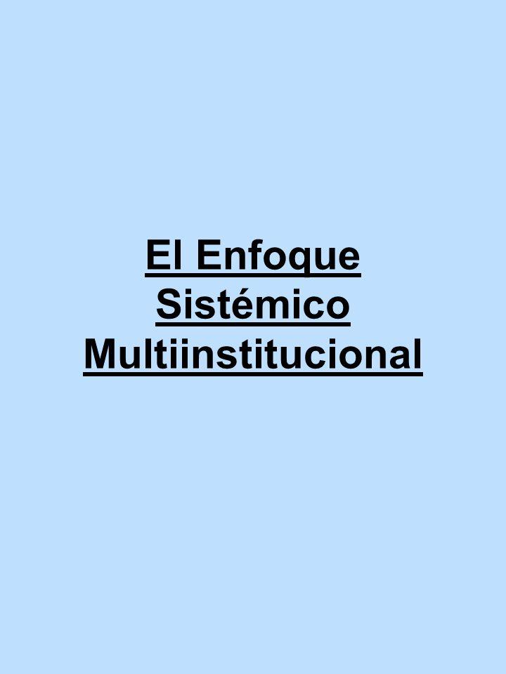 El Enfoque Sistémico Multiinstitucional