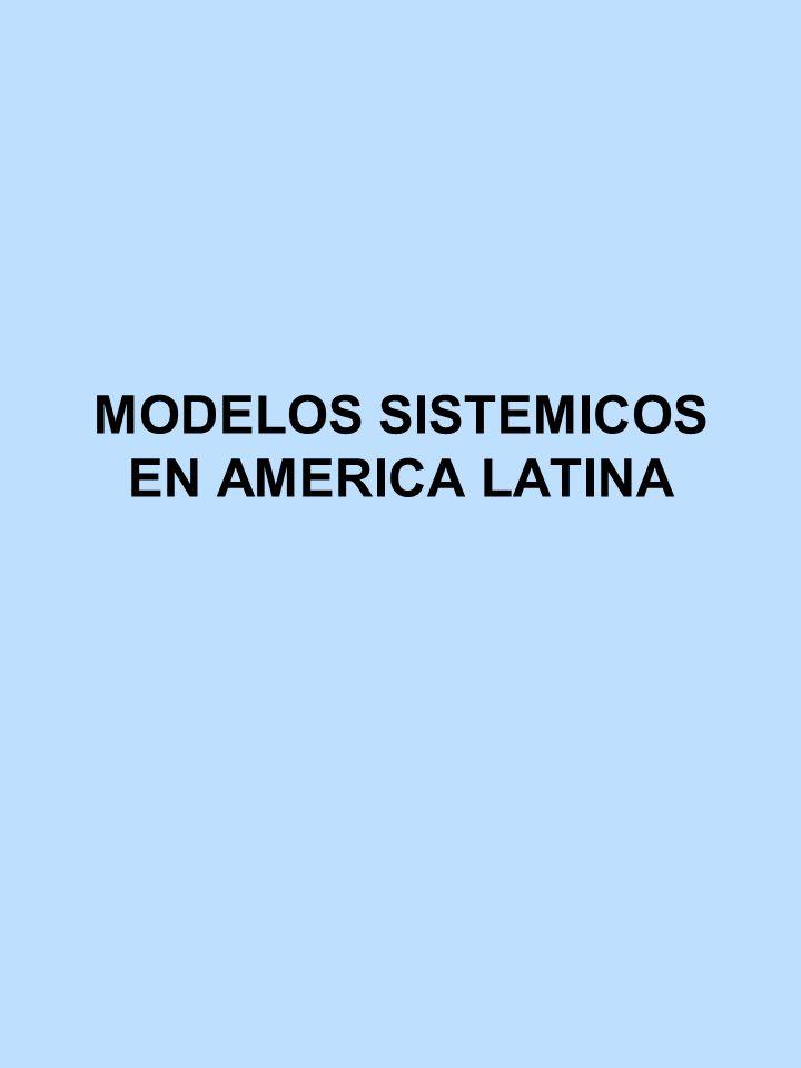MODELOS SISTEMICOS EN AMERICA LATINA