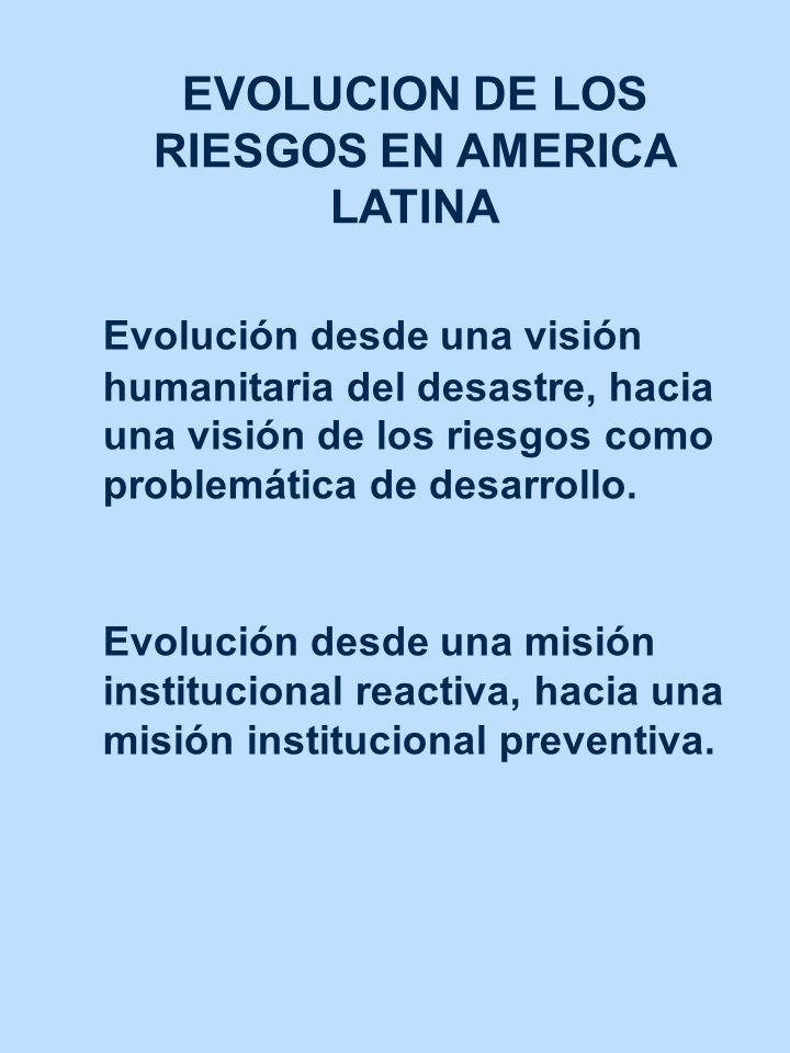 EVOLUCION DE LOS RIESGOS EN AMERICA LATINA