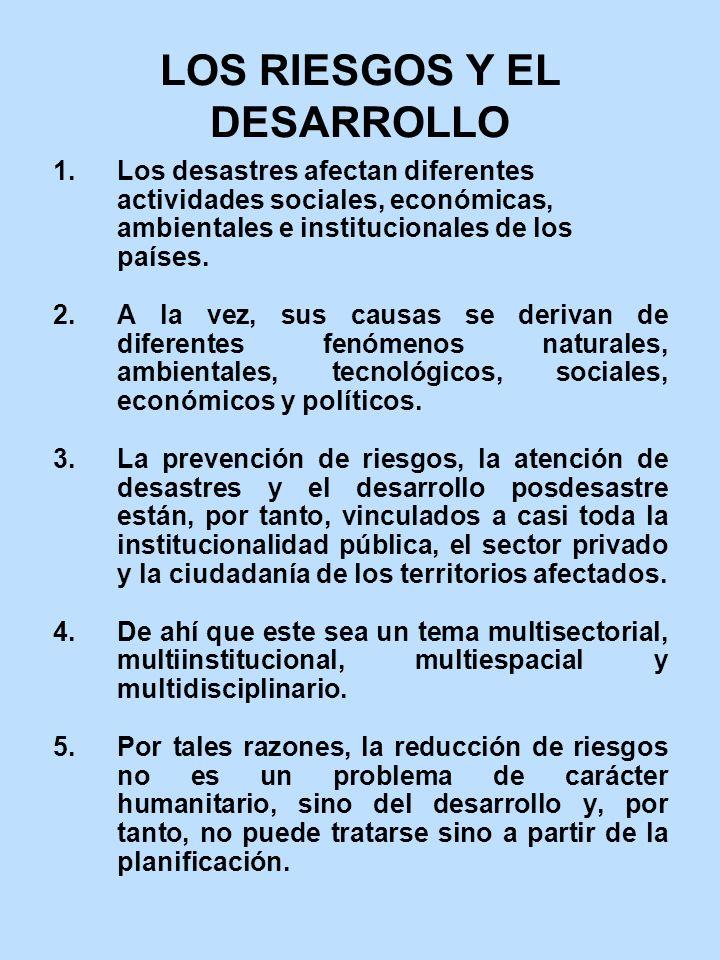 LOS RIESGOS Y EL DESARROLLO