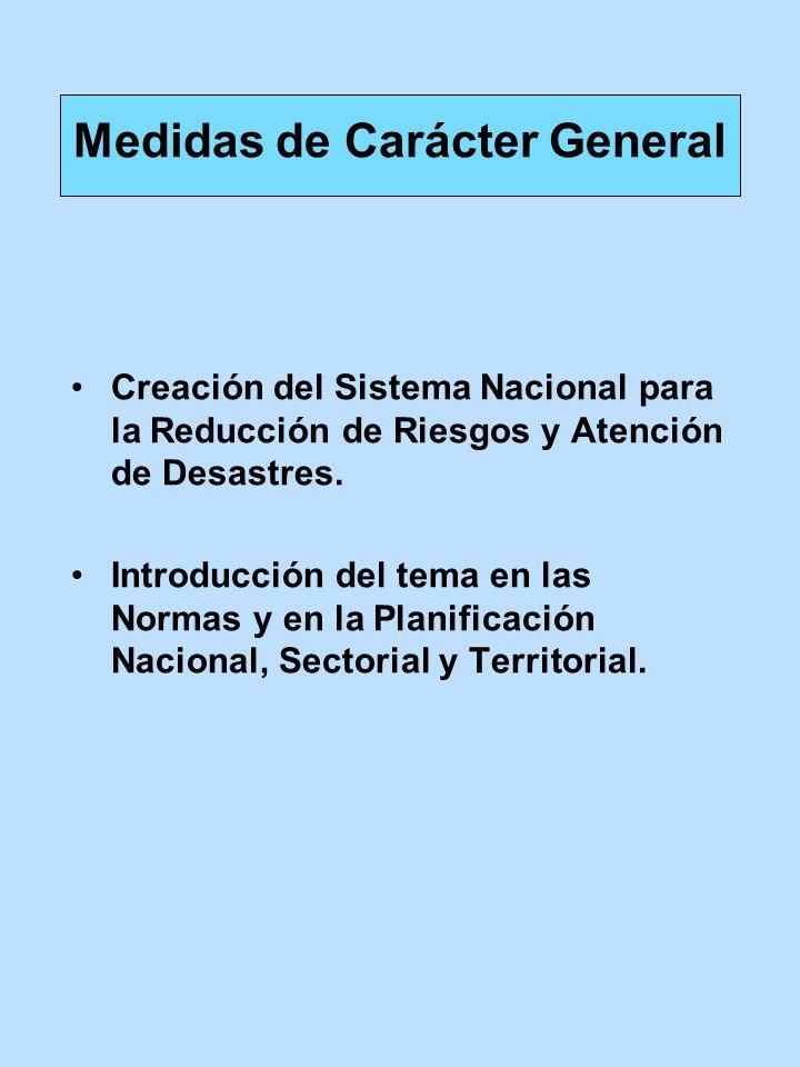 Medidas de Carácter General