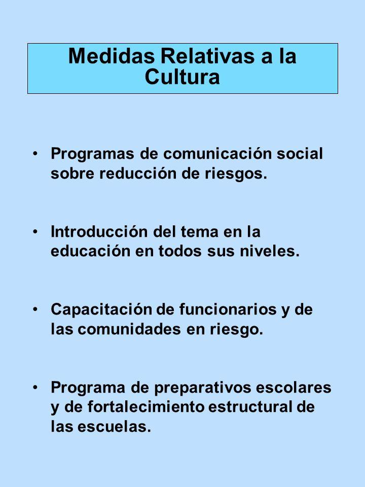 Medidas Relativas a la Cultura