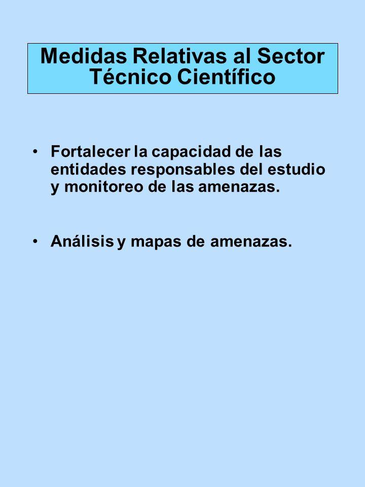 Medidas Relativas al Sector Técnico Científico