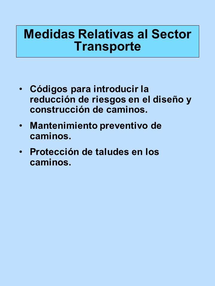 Medidas Relativas al Sector Transporte