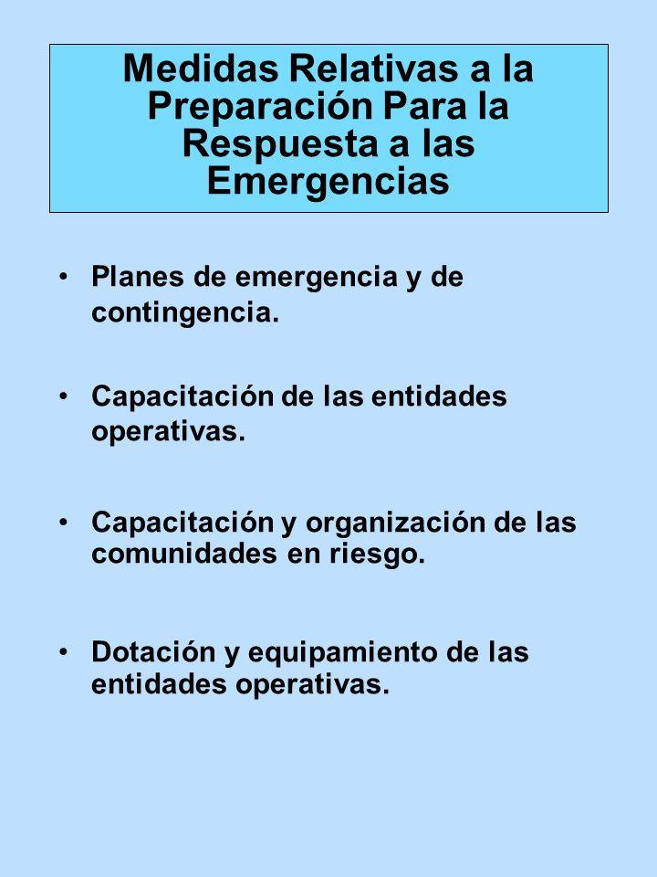 Medidas Relativas a la Preparación Para la Respuesta a las Emergencias