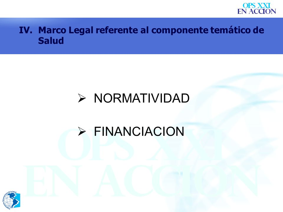 NORMATIVIDAD FINANCIACION