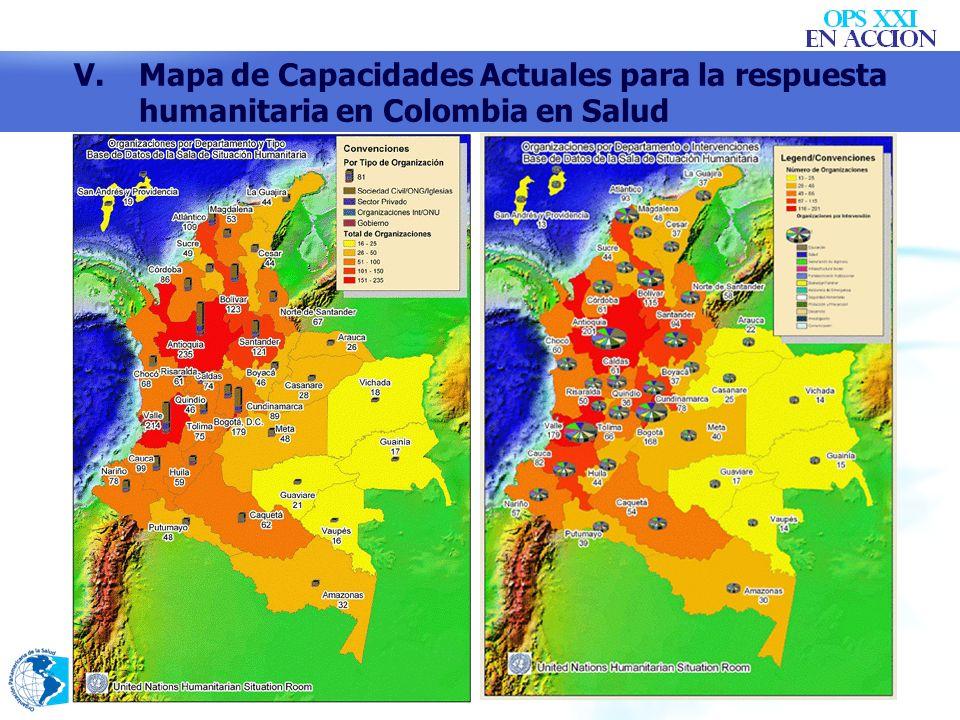 V. Mapa de Capacidades Actuales para la respuesta