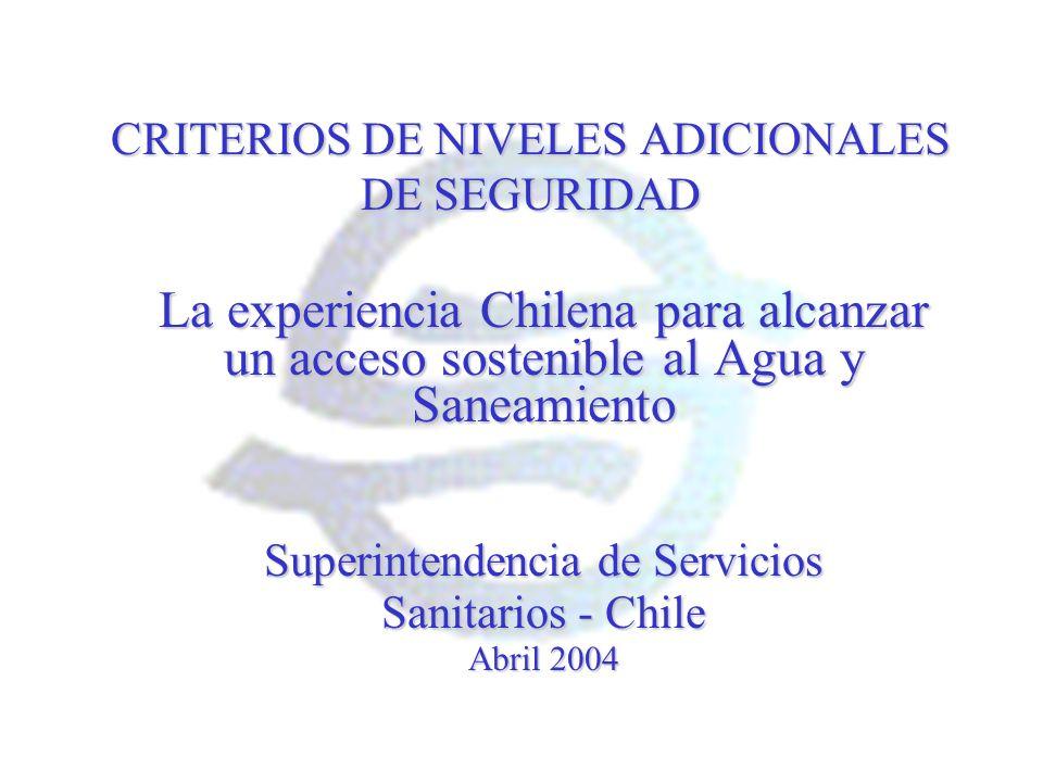 CRITERIOS DE NIVELES ADICIONALES DE SEGURIDAD