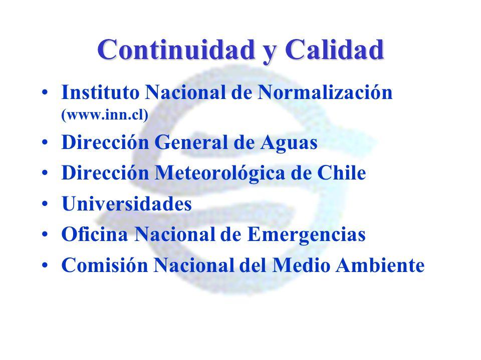 Continuidad y Calidad Instituto Nacional de Normalización (www.inn.cl)