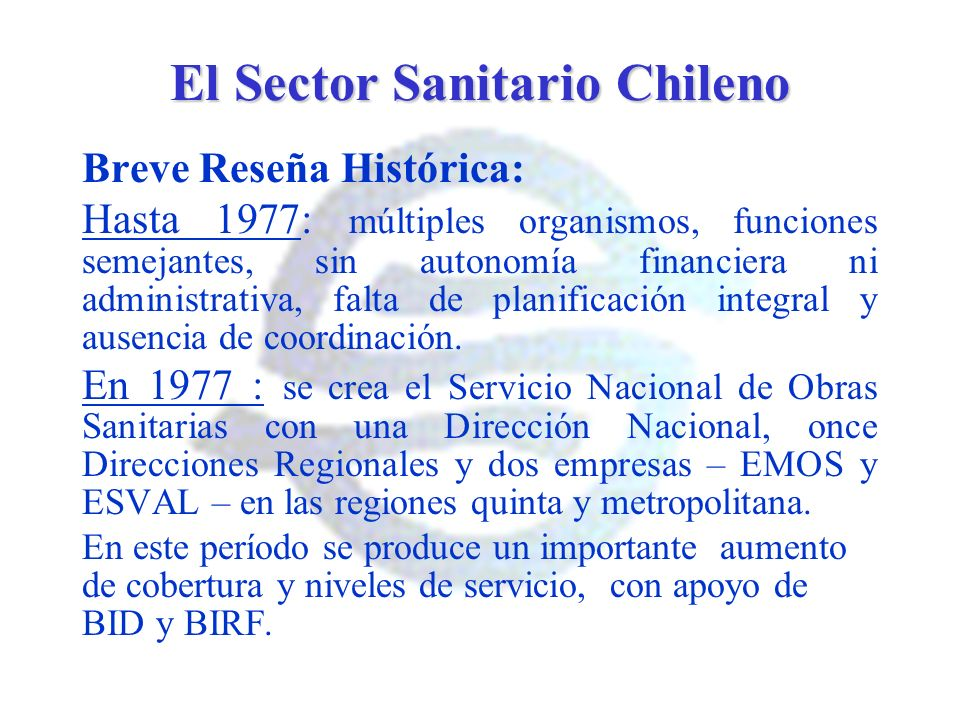 El Sector Sanitario Chileno