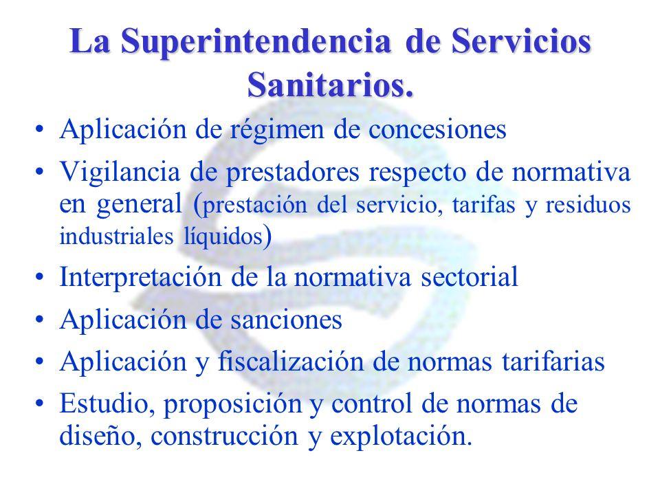 La Superintendencia de Servicios Sanitarios.