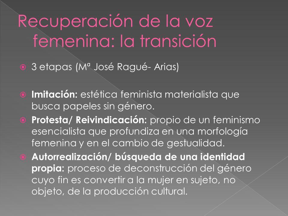 Recuperación de la voz femenina: la transición
