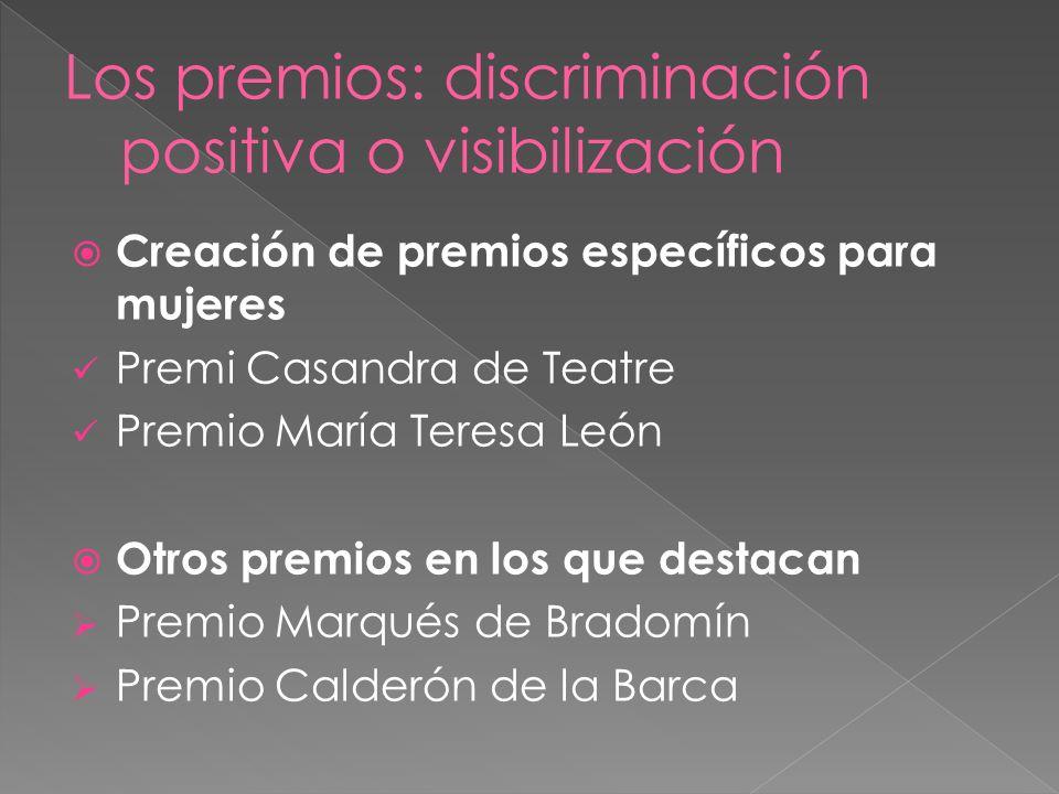 Los premios: discriminación positiva o visibilización