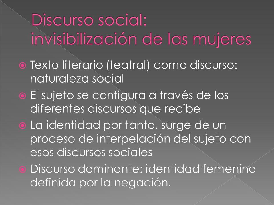Discurso social: invisibilización de las mujeres