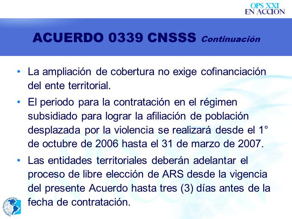 ACUERDO 0339 CNSSS Continuación