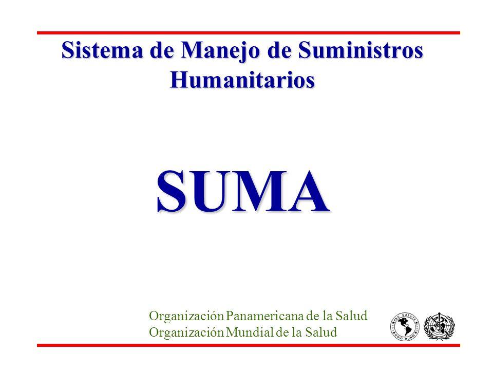 Sistema de Manejo de Suministros Humanitarios SUMA