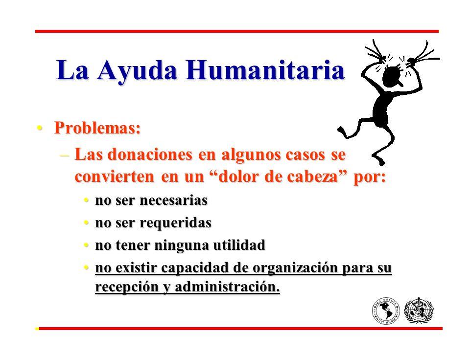 La Ayuda Humanitaria Problemas: