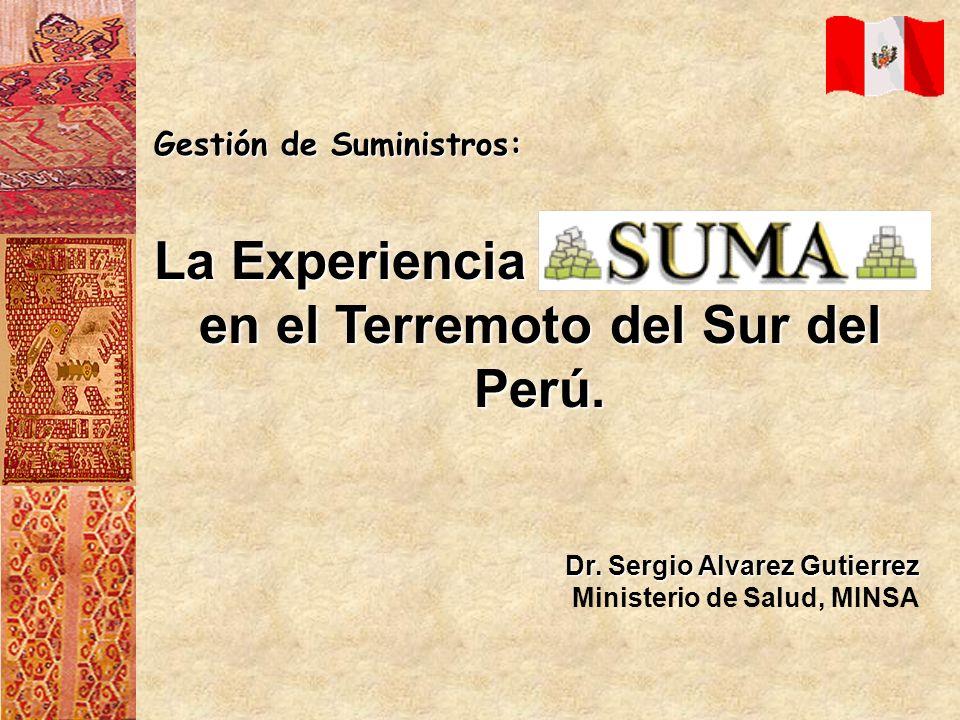en el Terremoto del Sur del Perú.